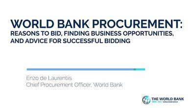 World Bank Procurement Video: How to bid, finding